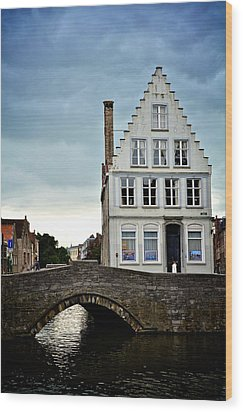 Moody Bruges Wood Print