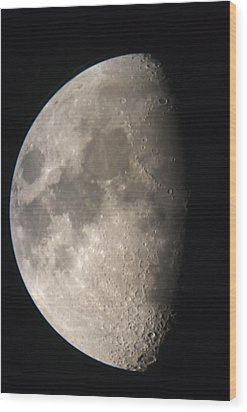 Wood Print featuring the photograph Moon Against The Black Sky by John Short