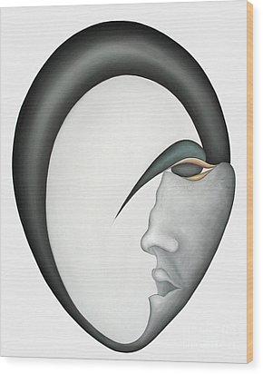 Moon Brother Wood Print by Joanna Pregon