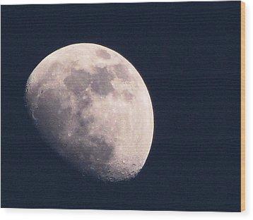 Moon Wood Print by Katie Wing Vigil