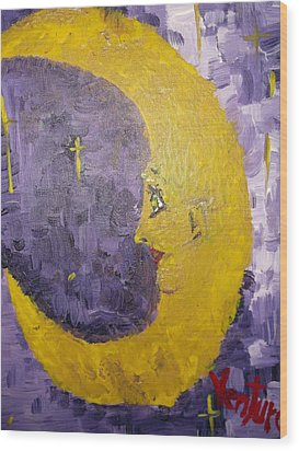 Moon Lady Wood Print