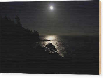 Moon Over Dor Wood Print by Brent L Ander