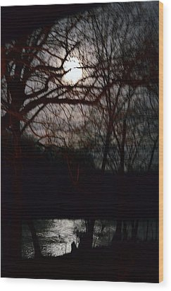 Wood Print featuring the photograph Moon Over Maury by Cathy Shiflett