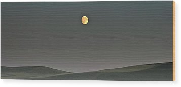 Wood Print featuring the photograph Moon Over The Palouse by Albert Seger
