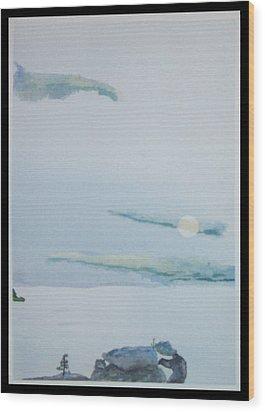 Moon Rise Wood Print by John  Schwind