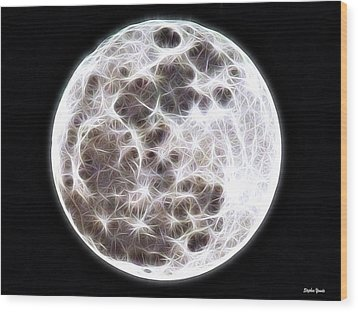Moon Wood Print by Stephen Younts