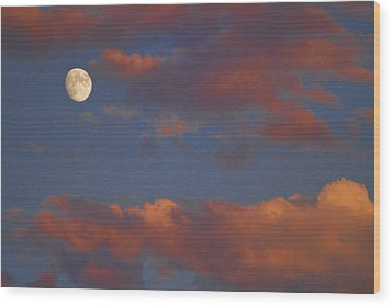 Moon Sunset Wood Print by James BO  Insogna