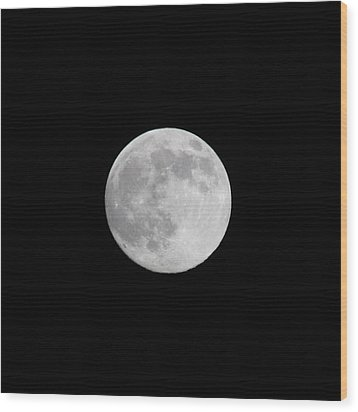 Moon Time Wood Print by Cathie Douglas