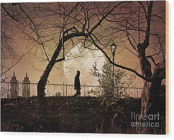Wood Print featuring the photograph Moon Walker by Deborah Smith