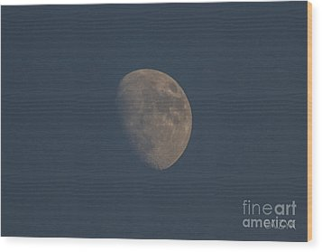 Moon2 Wood Print