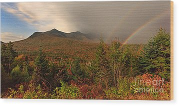 Moonbow Over The Kancamagus Wood Print