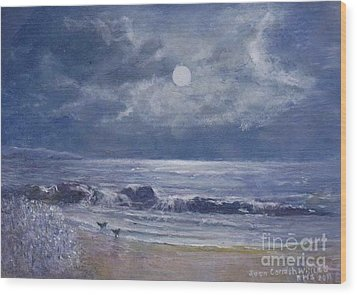 Moonglow Wood Print by Joan Cornish Willies