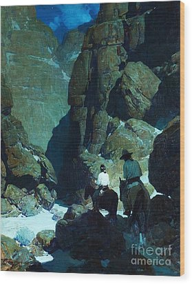 Moonlight Canyon Wood Print by Pg Reproductions