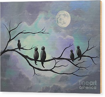 Moonlight Sonata Wood Print by Stacey Zimmerman