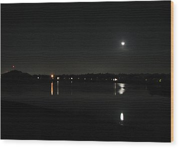 Wood Print featuring the photograph Moonlight Tears by Bill Lucas