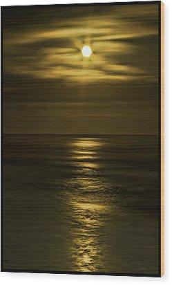 Moonlit Pacific Wood Print by Dale Stillman