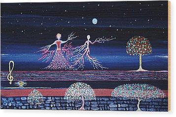 Moonlove Dance Wood Print by Farshad Sanaee The Apple