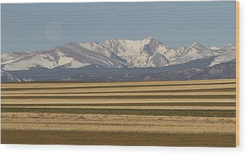 Moons Set On The Colorado Plains Wood Print by James BO  Insogna