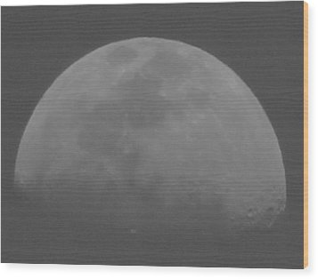 Moon's Shadow Wood Print
