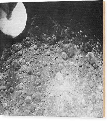 Moon's Surface, Zond 3 Image Wood Print by Ria Novosti