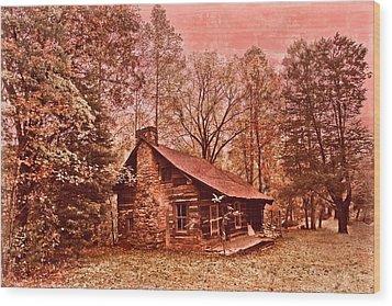 Moonshine Wood Print by Debra and Dave Vanderlaan