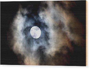 Moonshine Wood Print by Karen Scovill