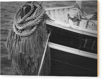 Moored Wood Print by Eric Gendron