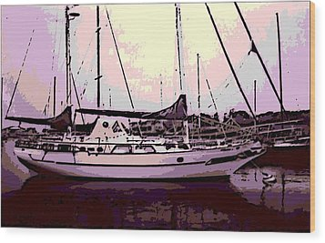 Moored Wood Print by George Pedro