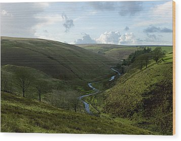 Moorland Valley Wood Print by Dr Keith Wheeler