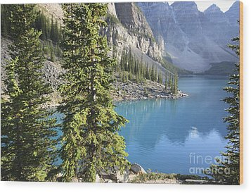 Wood Print featuring the photograph Moraine Lake  by Milena Boeva