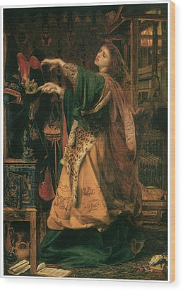Morgan-le-fay Wood Print by Frederick Sandys