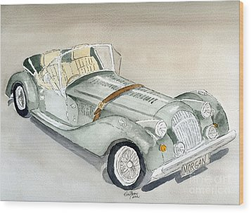 Morgan Sports Car Wood Print