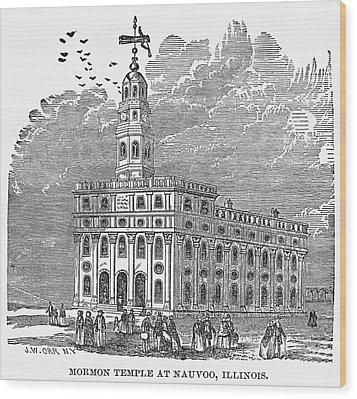 Mormon Temple, Nauvoo Wood Print by Granger