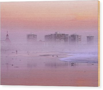 Morning At The Beach Wood Print by Steve K