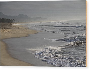 Morning Beach Wood Print by Sergey and Svetlana Nassyrov