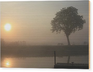 Wood Print featuring the photograph Morning Calm by Linsey Williams