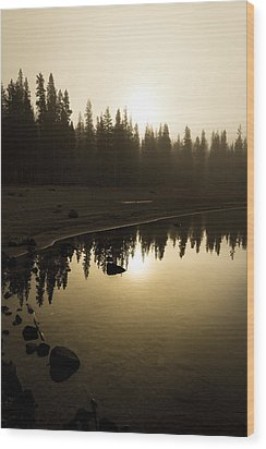 Wood Print featuring the photograph Morning Calm by Randy Wood