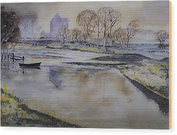Wood Print featuring the painting Morning Calm by Rob Hemphill