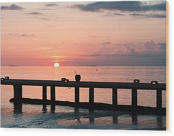 Wood Print featuring the photograph Morning Calm by Shirley Mitchell