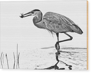 Morning Catch Wood Print by Don Durfee