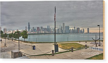 Morning Comes To The City Wood Print by David Bearden