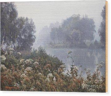 Morning Fog Wood Print by Andrey Soldatenko