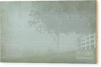 Morning Fog Wood Print by Judi Bagwell