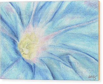 Morning Glorious Wood Print by Iris M Gross