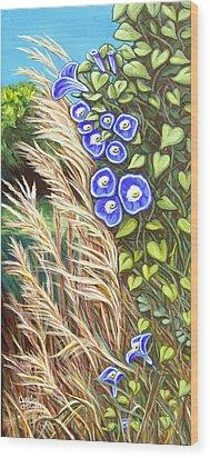 Morning Glory Wood Print by Carol OMalley