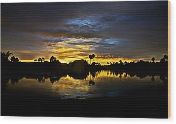 Morning Glow  Wood Print by Saija  Lehtonen