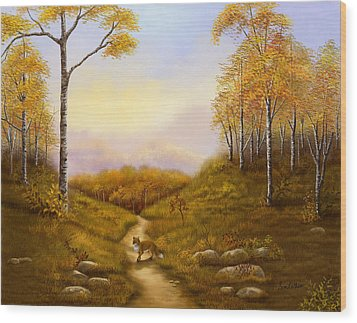 Morning Hunt Wood Print by Sena Wilson