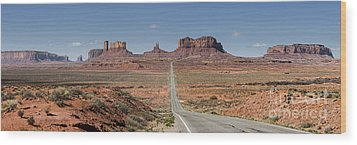 Morning In Monument Valley Wood Print by Sandra Bronstein