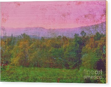 Morning In The Mountains Wood Print by Judi Bagwell