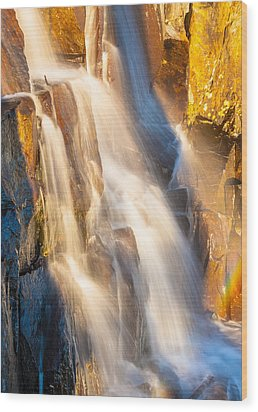 Morning Light On Lower Falls Wood Print by Marc Crumpler